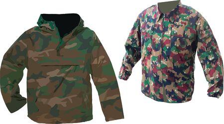 male camouflage jackets Illustration