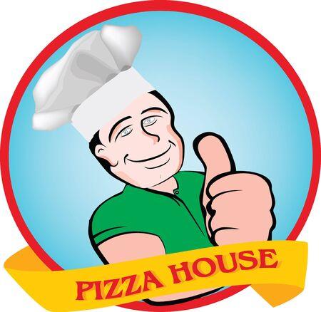 ok pizza logo Vector