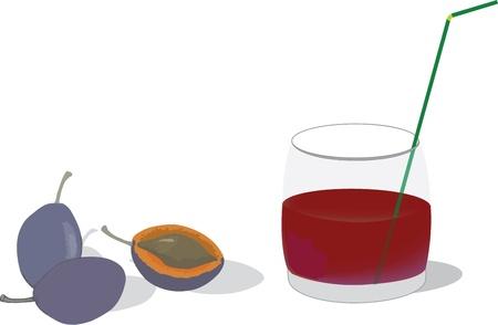 succo di prugna nel bicchiere