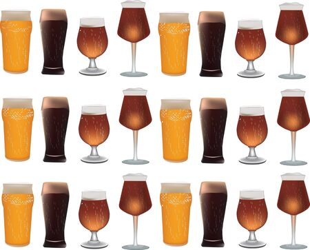 glasses of beer Stock Vector - 14227199