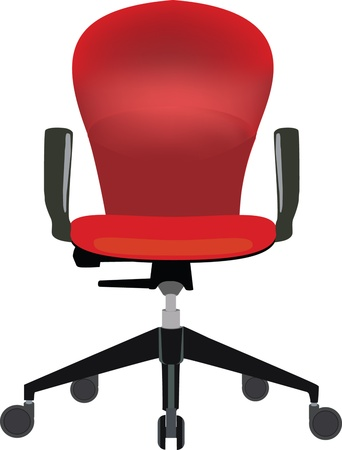 armrests: red chair for office