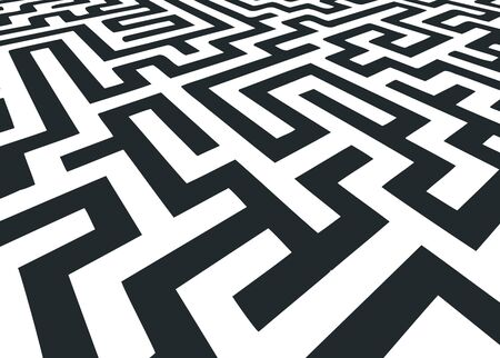 maze in black and white Stock Vector - 17097795