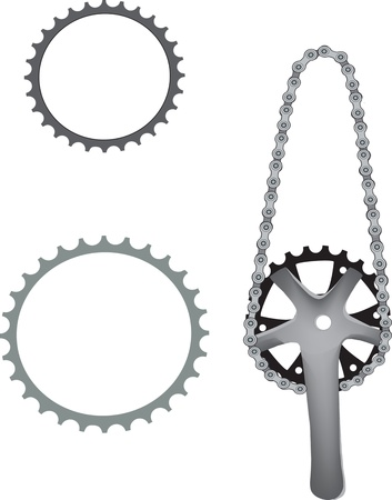 pedaling: bicycle sprocket