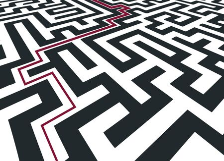 way through the maze Illustration