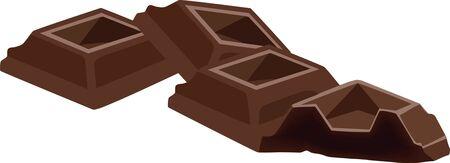 chocolate into pieces Stock Vector - 17831404