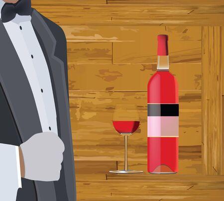 persona in uniforme e bottiglia