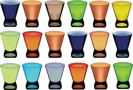 glazing: small colored glasses