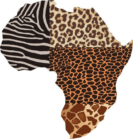 African continent with design skin