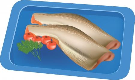 pan of fish Stock Vector - 18383636