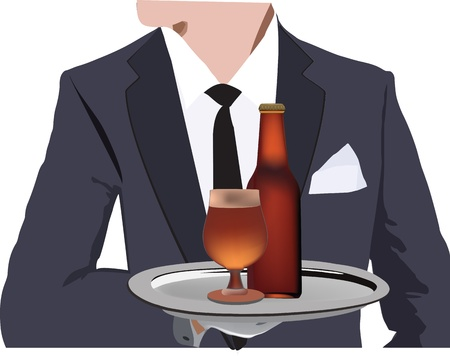 person in a waiter s outfit Stock Vector - 19283962