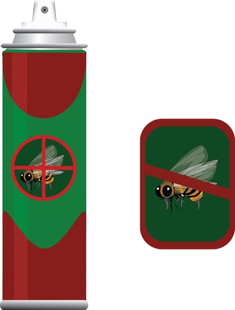 poison insect spray Stock Vector - 19890369