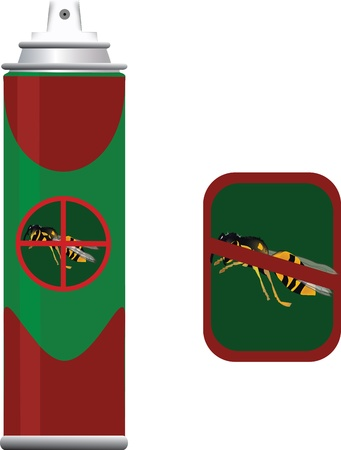 insecticide container Stock Vector - 21217103