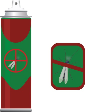 insecticide container Stock Vector - 21217107