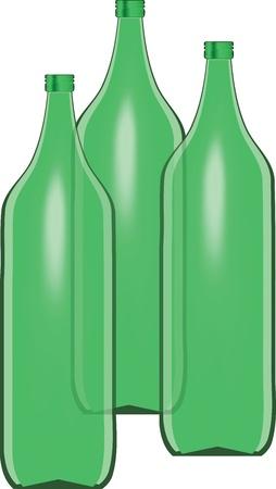 uncorked: bottiglie verdi Illustration