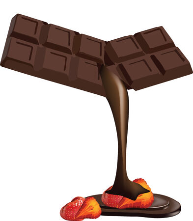 dipped: Chocolate dipped fruit