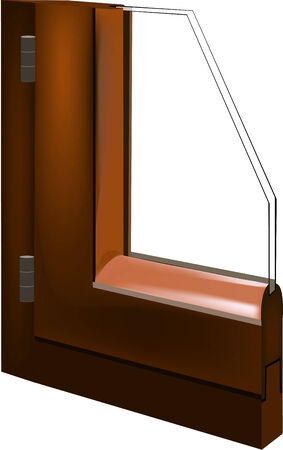 double glazing: Portion of the window glass with