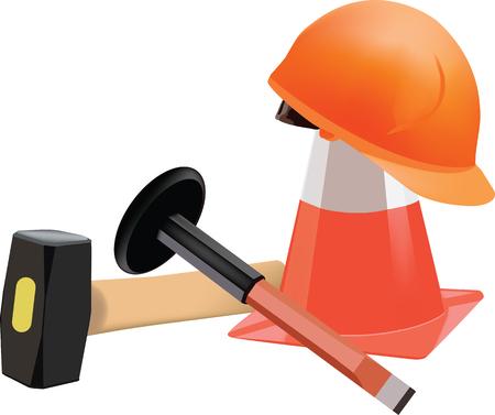 mediaan: mediaan kegel helm hamer en gereedschap toebehoren