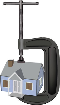 clamp that tightens the house