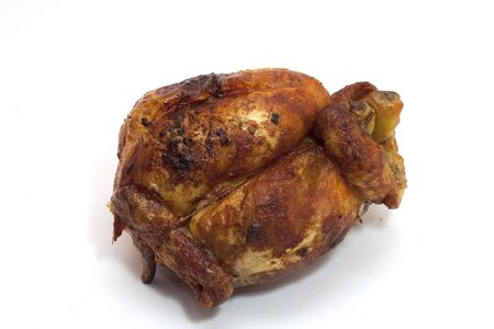 pollo rostizado: la carne de pollo cocinada en un asador en el asador