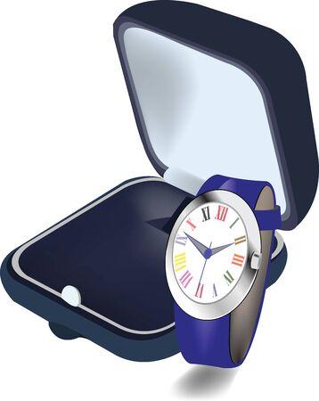 casket: casket with style wristwatch