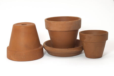 Small vessels fit for gardening Stock Photo