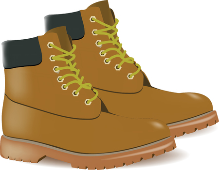 shoes with sturdy soles Illustration