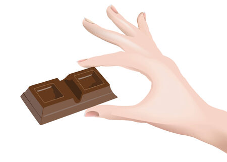 sweetener: Chocolate in person hand out Illustration