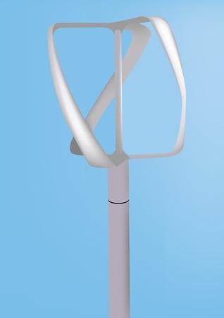 accessoire: Mini windturbine accessoire voor alternatieve energie Stock Illustratie