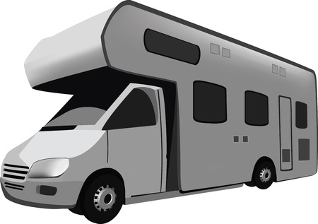 Four-wheel vehicle for camping and holiday campers and caravans traveling,