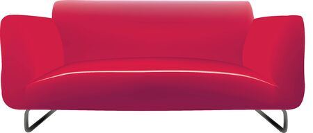 interior designer: Modern three-seater sofa in fabric and leather red