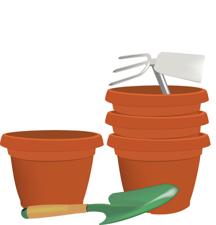 Gardening pots and atrezzatura varies