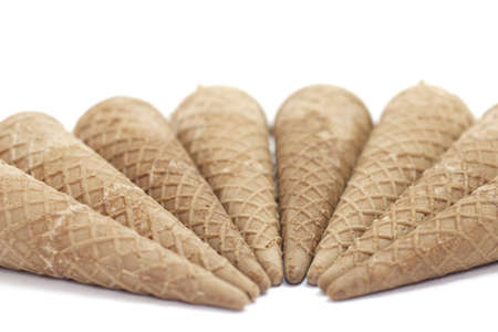 Waffle ice cream cones to hold the ice cream biscuit crumbly