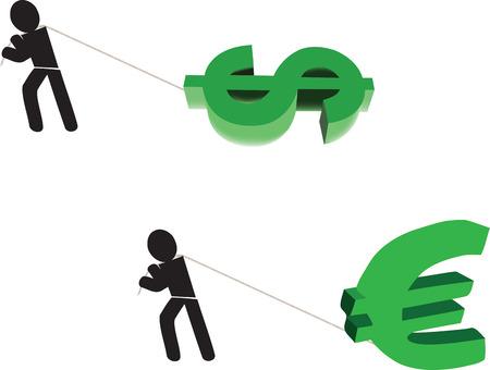 blacks: men blacks carrying currency symbol
