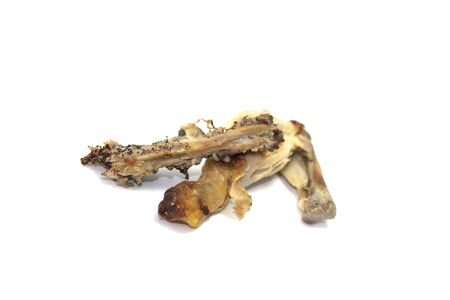 leftover: Chicken bones Stock Photo