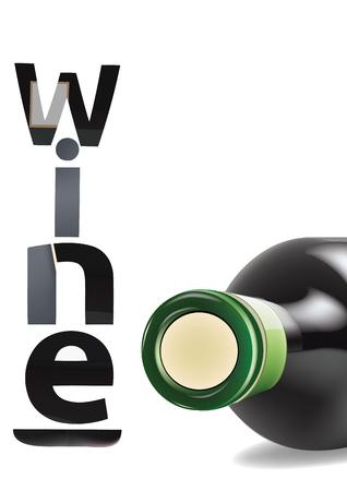 lying down: wine bottle lying down Illustration
