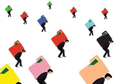 commitments: transportation folders Illustration