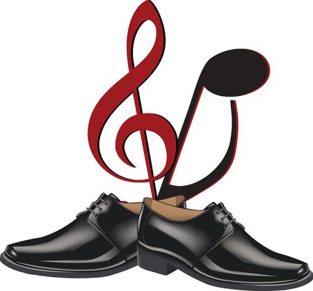 zapatos de baile negro