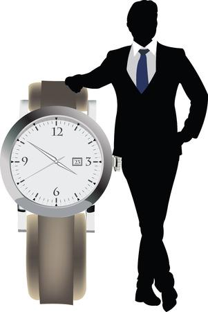 punctuality: directivo con el nombramiento de reloj
