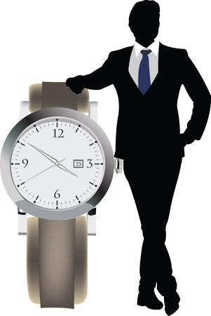 delay: manager with clock appointment