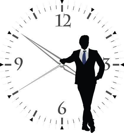 punctuality: figuras humanas con reloj transparente