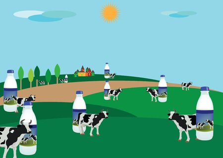 milk production: milk production Illustration