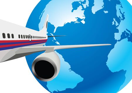 taking off: plane taking off Illustration