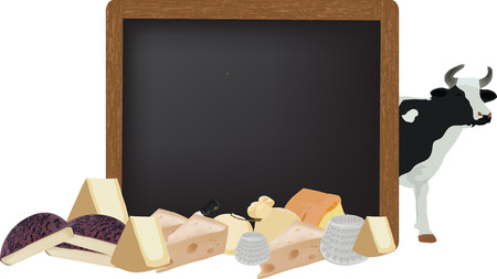 dairy cattle: blackboard with dairy cattle