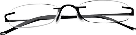 defect: Reading glasses transparent Illustration