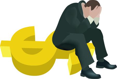 stock exchange brokers: despair over the falling dollar