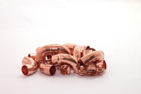 a copper: accesorios de cobre Foto de archivo