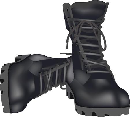 군사 신발 양서류 일러스트