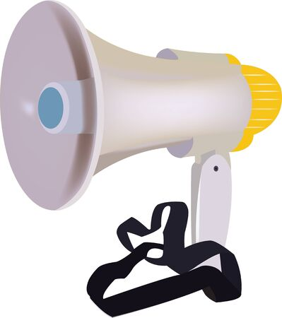meet: megaphone stack for events and meet Illustration