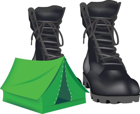 natures: tent with boots