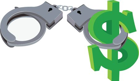 currency symbol: handcuffs of the type block American currency symbol